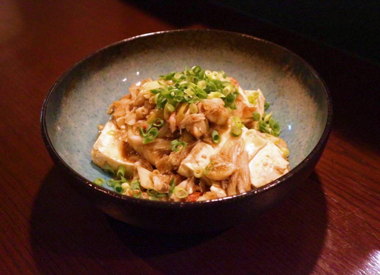 ズワイガニとカニ味噌の麻婆豆腐