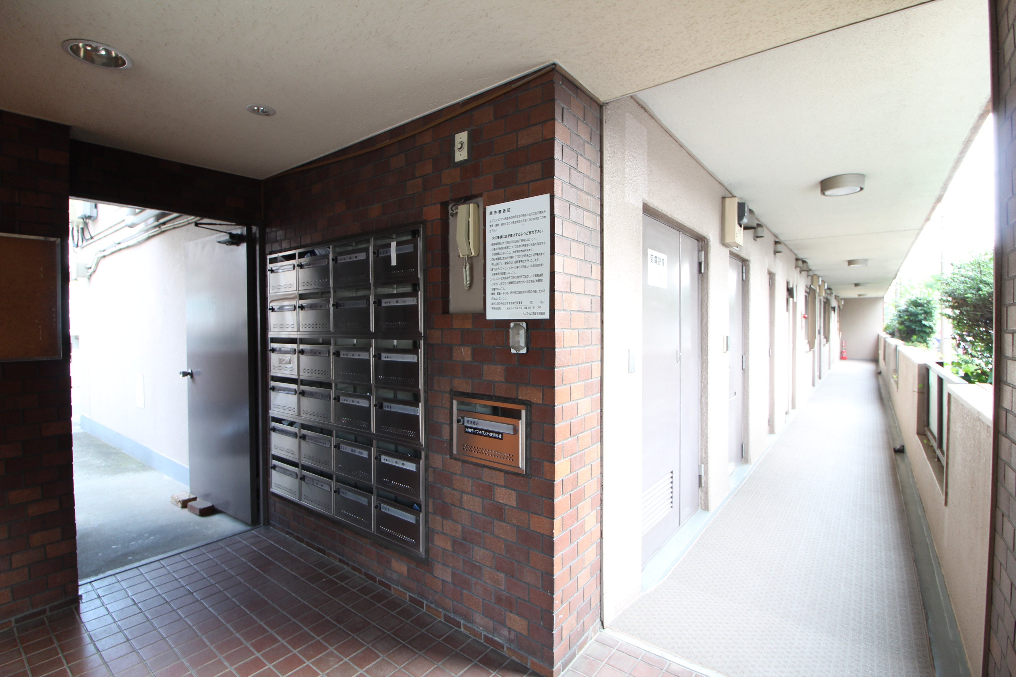 ルシェール江古田入り口